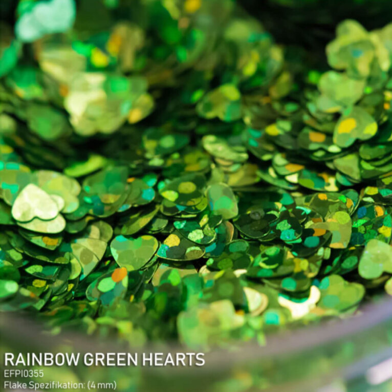 DIPON®-3D Helbed, RAINBOW GREEN, rohelised südamed