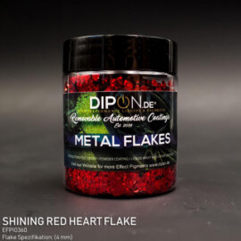DIPON®-3D Helbed, SHINING RED HEART, punased südamed