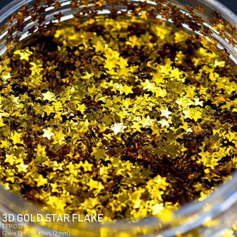 DIPON®-3D Helbed, GOLD STAR, kuldsed tähekesed