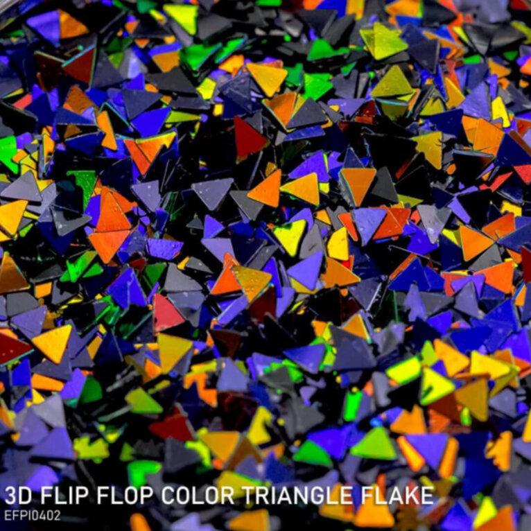 DIPON®-3D Helbed, FLIP FLOP COLOR TRIANGLE, värviline