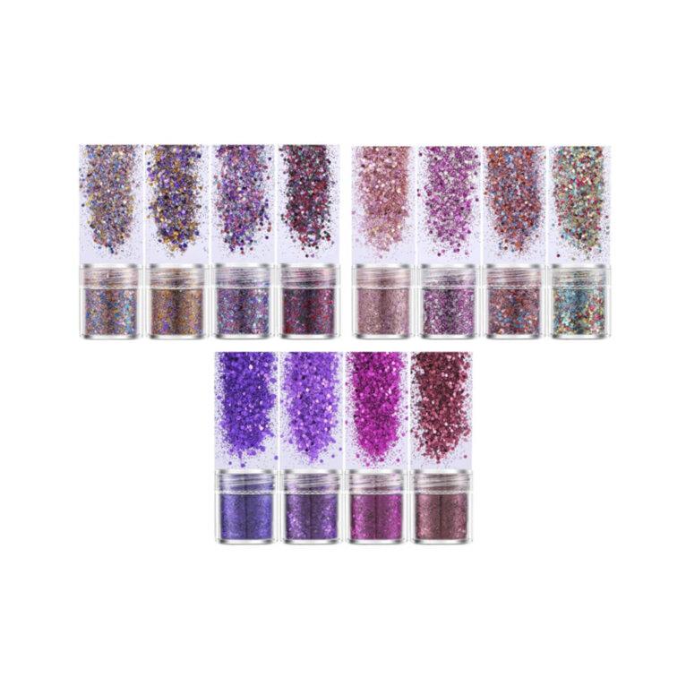 Glitterpulbrite komplektid