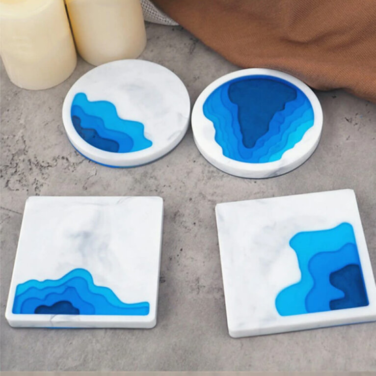 Tassi- ja klaasialuste valamiseks silikoonvorm