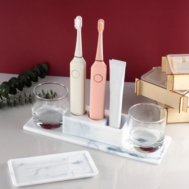 Hambaharjahoidja ja vannitoa aksessuaaride valamise silikoonvormid