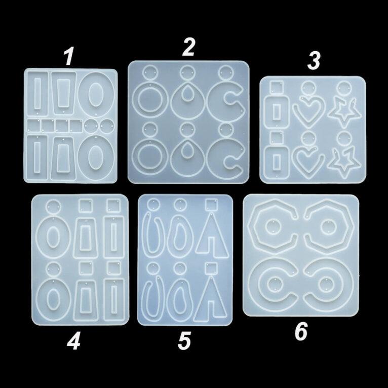 Kõrvarõngaste valamise silikoonvormid, erinevad mustrid