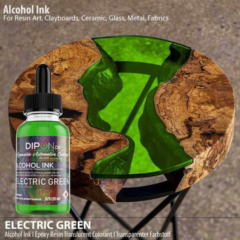 Alkoholitint DIPON®, ELECTRIC GREEN, roheline