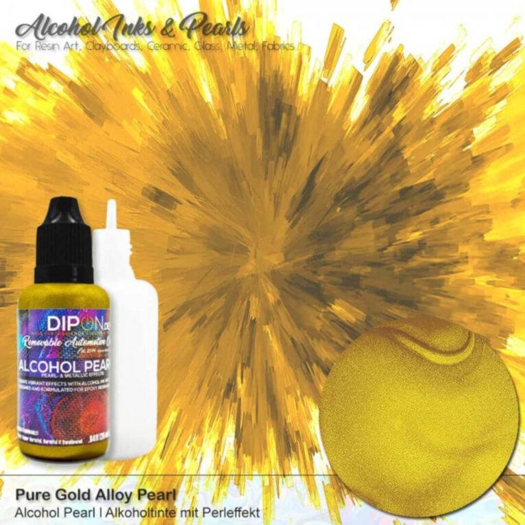 Alkoholitint DIPON®Alcohol Pearl, PURE GOLD ALLOY, 25ml