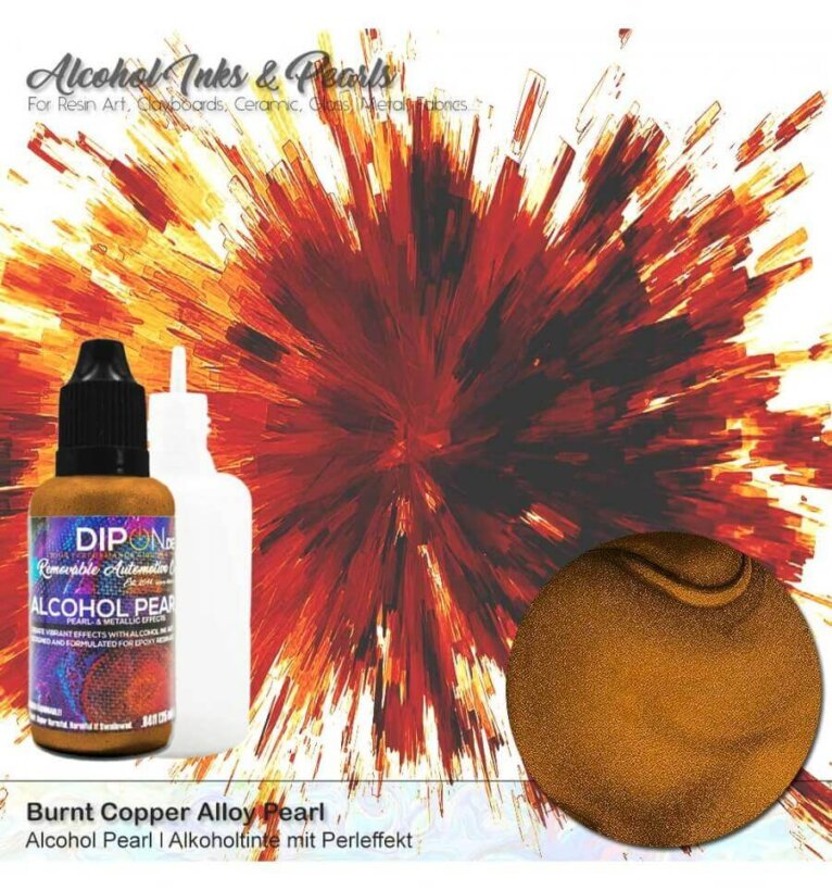 Alkoholitint DIPON®Alcohol Pearl,BURNT COPPER ALLOY, pronks, 25ml