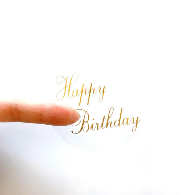 Kleebised, Happy Birthday