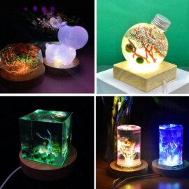 Lambi valmistamise toorikud LED valgustusega