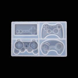 Silikoonvorm, neli mini mängukonsooli pulti