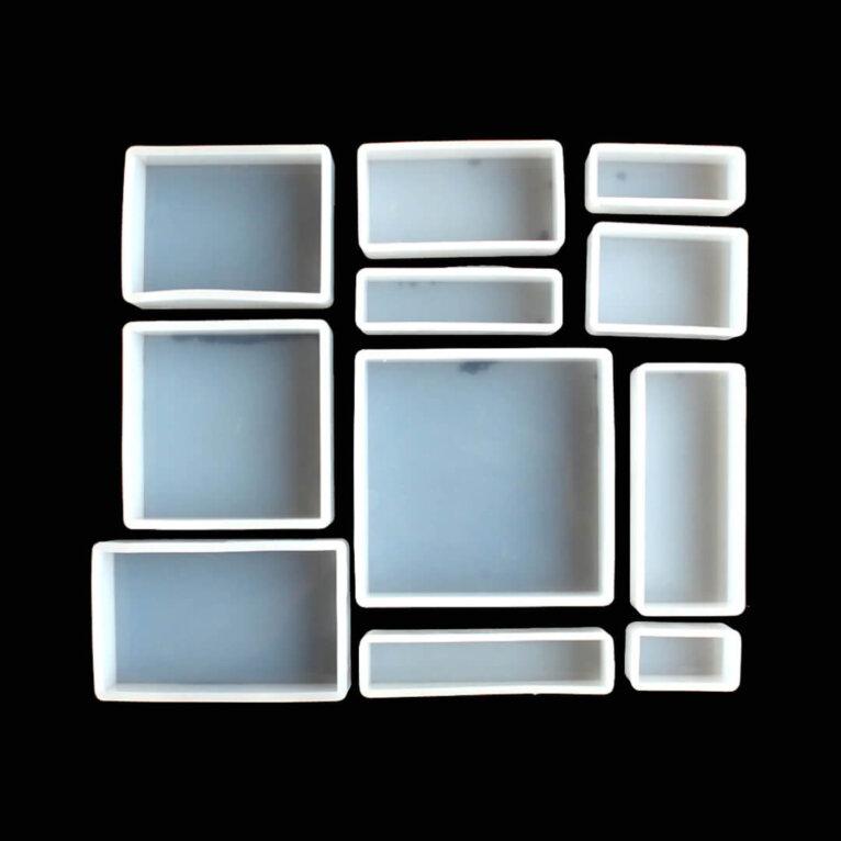 Silikoonvormid, ruut ja ristkülik