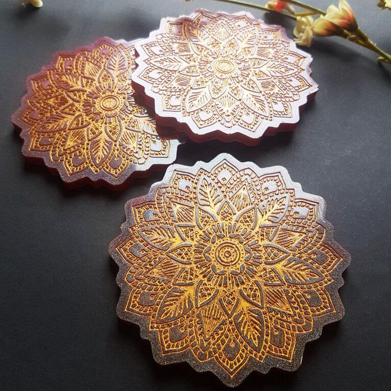Silikoonvormide komplekt, ornamentidega alused