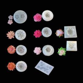 Silikoonvorm, väikesed lilled ehete valmistamiseks