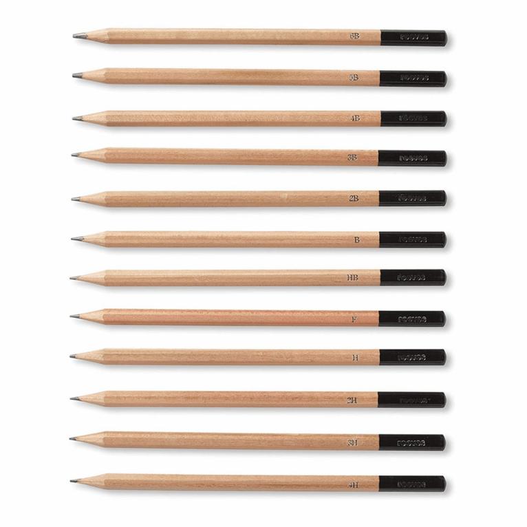 Harilike pliiatsite komplekt, 12 tk
