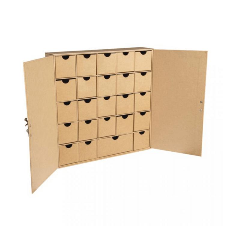 Advendikalender kartongist 29,6 x 29,6 x 6,5cm