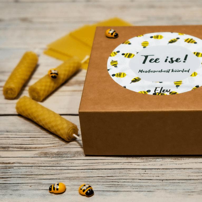 Mesilasvahast küünalde meisterdamise komplekt, lastele